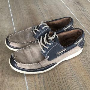 Florsheim Sz 10M Leather Slip On Loafer Boat Shoes